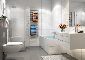 Modern bathroom. Render image.